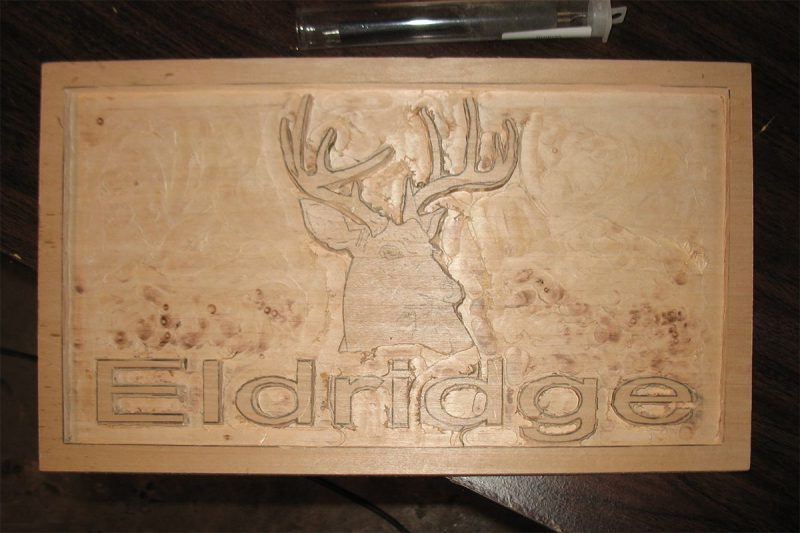 Eldridge Relief Carved Sign 1