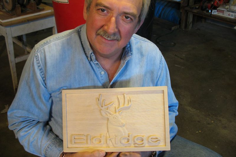 Eldridge Relief Carved Sign 4