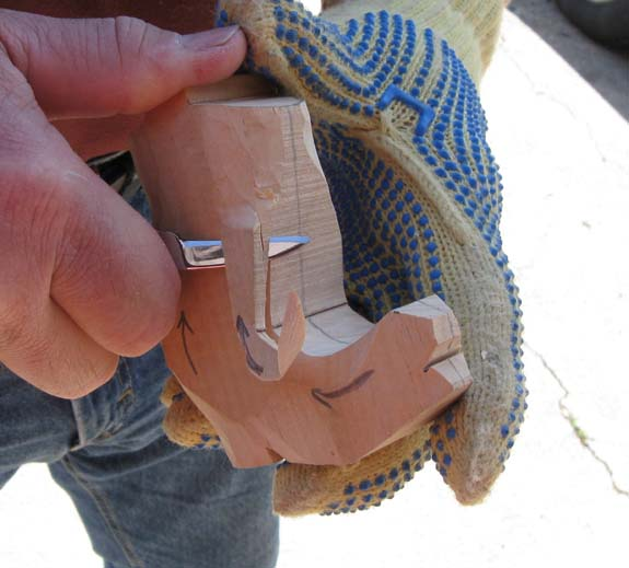 How to carve a cowboy boot - Rounding Out