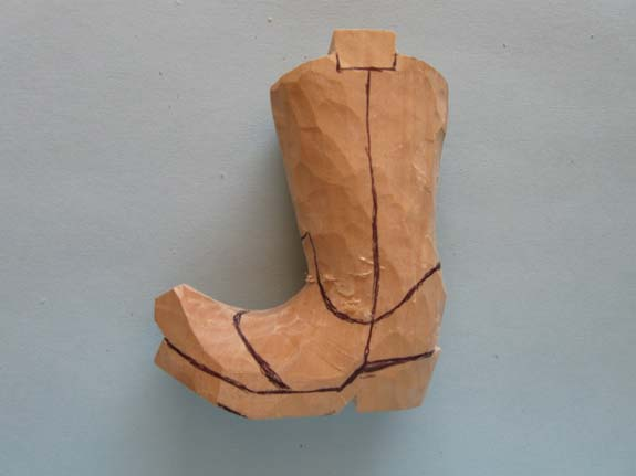 How to carve a cowboy boot - Marking Up for the V-Tool