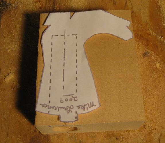 How to carve a cowboy boot - Tracing the Pattern