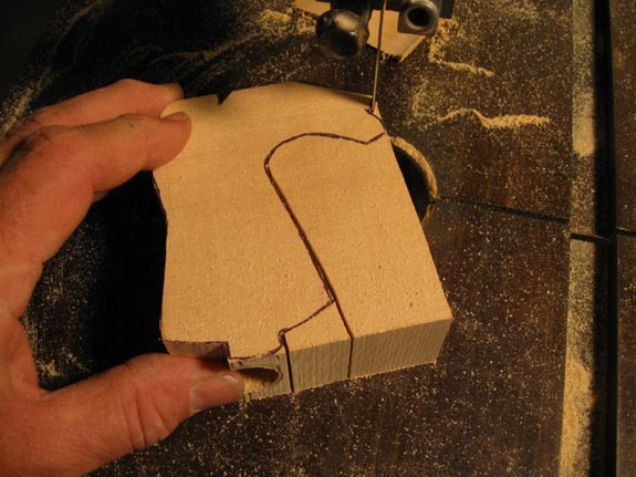 How to carve a cowboy boot - Sawing Out the Boot Blank