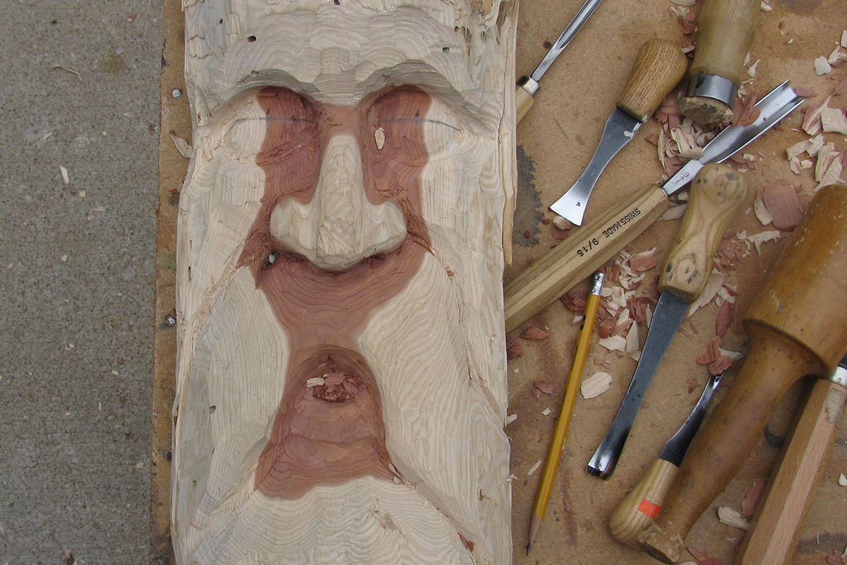 How to carve a wood spirit the woodcarver s cabin