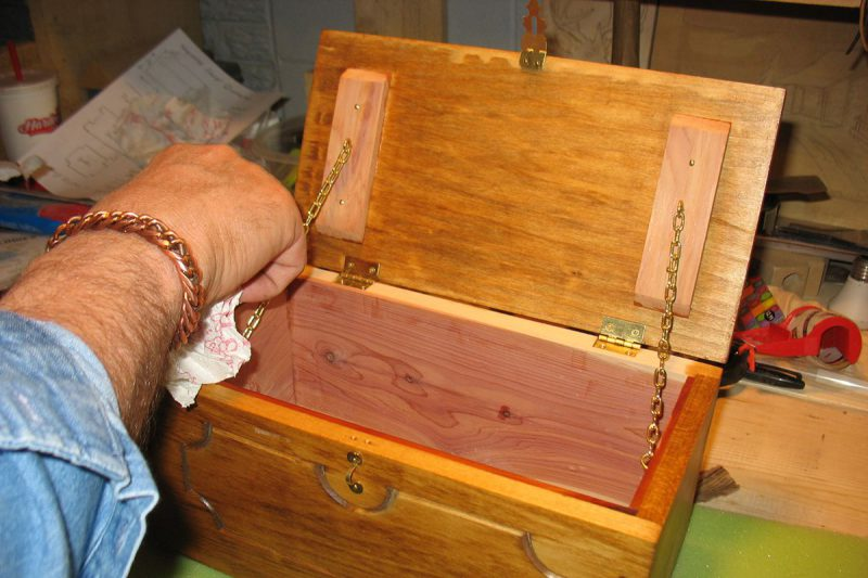 Leavenworth Keepsake Chest stain touch up
